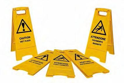 Pannello di avviso attenzione pavimento bagnato - Segnale pavimento bagnato ...