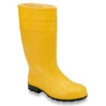 STIVALE AL GINOCCHIO in pvc colore giallo