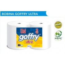 BOBINA GOFFRY ULTRA IN CELLULOSA (2 rotoli)