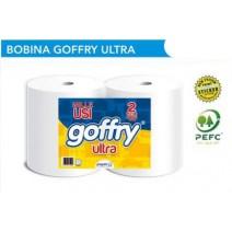 BOBINA GOFFRY ULTRA IN CELLULOSA (2 rotoli)