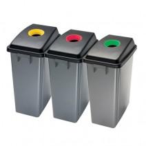 CONTENITORE PER DIFFERENZIATA (foro giallo,rosso,verde)