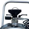 Particolare manometro e rifinitura in acciaio inox. Accessori Lamcia